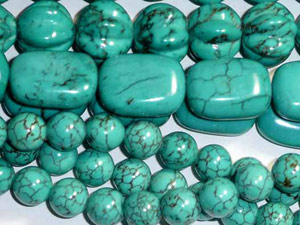 TransPacificGems - Turquoise Beads   Howlite Turquoise ...