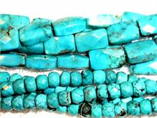 Faceted Turquoise Beads